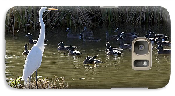 Galaxy Case featuring the photograph White Beauty by Phyllis Denton