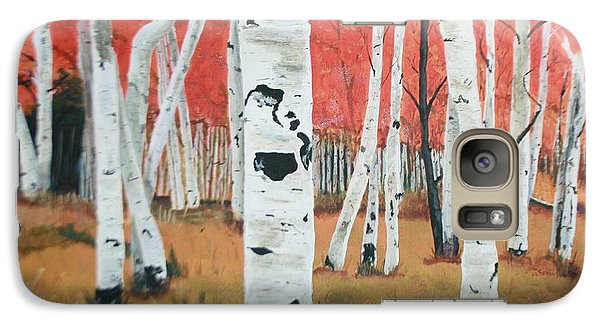 Galaxy Case featuring the painting White Birches by Betty-Anne McDonald