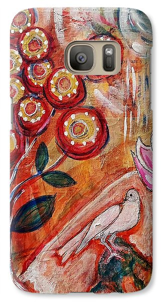 Galaxy Case featuring the mixed media White Bird by Mimulux patricia no No