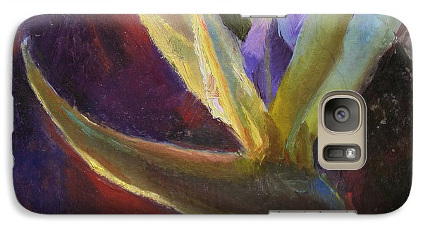 Galaxy Case featuring the painting White Bird Of Paradise -tropical Flower Painting by Karen Whitworth