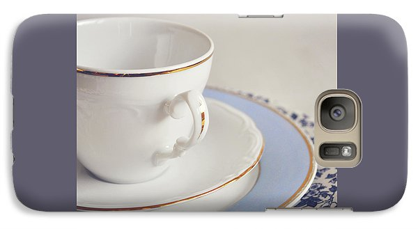 Galaxy Case featuring the photograph White China Cup, Saucer And Plates by Lyn Randle