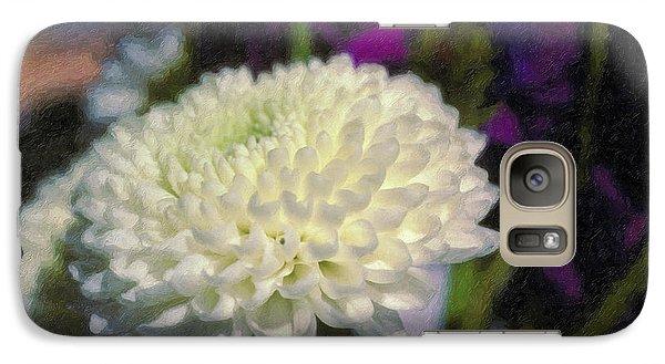 Galaxy Case featuring the photograph White Chrysanthemum Flower by David Zanzinger