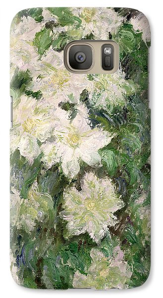 White Clematis Galaxy S7 Case by Claude Monet