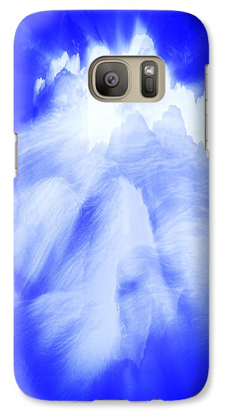 Galaxy Case featuring the photograph White Cloud In Blue by Kellice Swaggerty