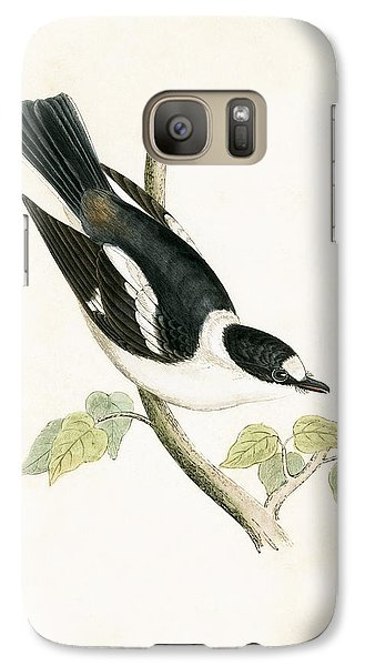 Flycatcher Galaxy S7 Case - White Collared Flycatcher by English School