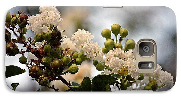 Galaxy Case featuring the photograph White Crape Myrtle- Fine Art by KayeCee Spain