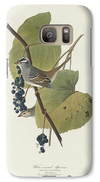White-crowned Sparrow Galaxy S7 Case by Anton Oreshkin