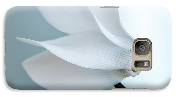 Galaxy Case featuring the photograph White Cyclamen. by Terence Davis
