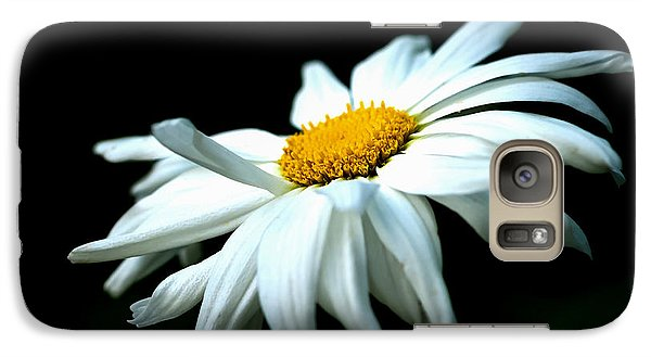 Galaxy Case featuring the photograph White Daisy Flower In The Wind by Alexander Senin
