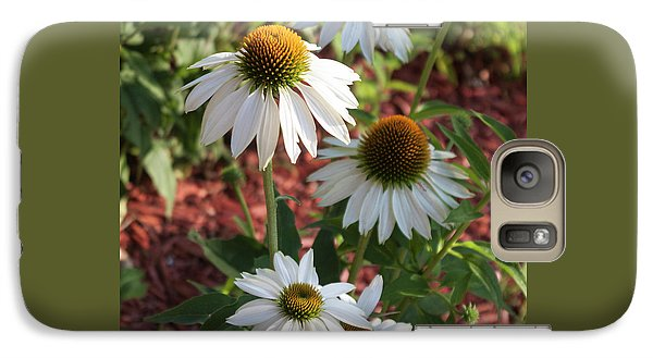 Galaxy Case featuring the photograph White Echinacea by Suzanne Gaff