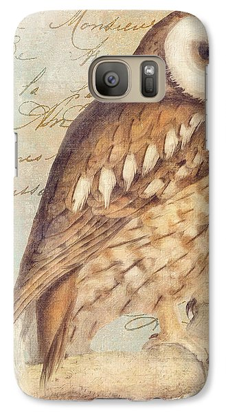 White Faced Owl Galaxy S7 Case by Mindy Sommers