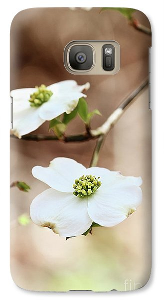 Galaxy Case featuring the photograph White Flowering Dogwood Tree Blossom by Stephanie Frey