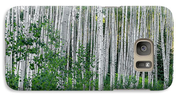 Galaxy Case featuring the photograph White Forest by Tim Reaves