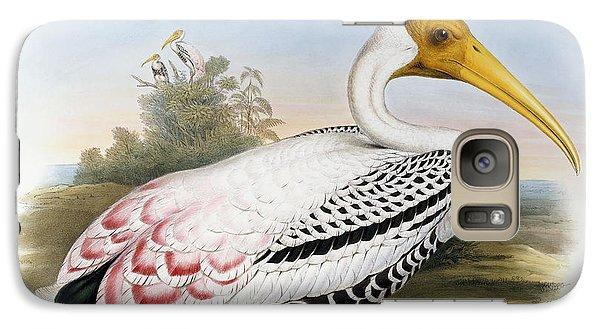Ibis Galaxy S7 Case - White-headed Ibis, Tantalus Leucocephalus by John Gould