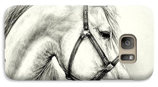 Galaxy Case featuring the drawing White Horse by Heidi Kriel