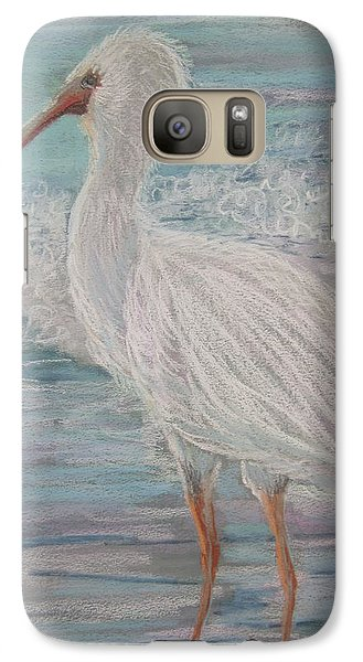 Galaxy Case featuring the painting White Ibis At Dusk by Sandra Strohschein