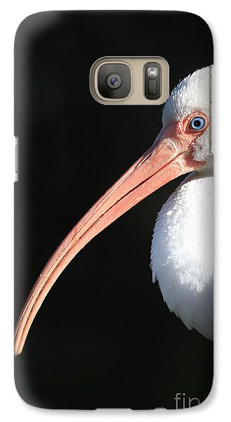 White Ibis Profile Galaxy S7 Case by Carol Groenen
