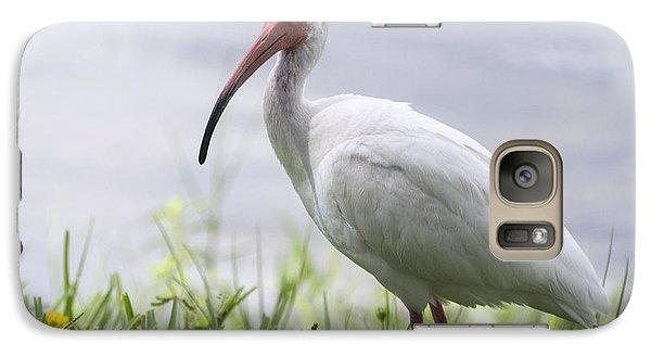 White Ibis  Galaxy Case by Saija  Lehtonen