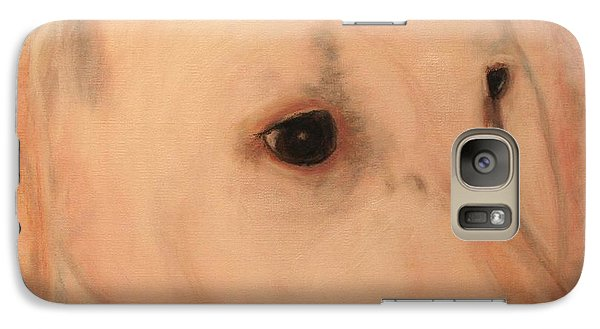 Galaxy Case featuring the painting White Lab - Sugar by Laura  Grisham