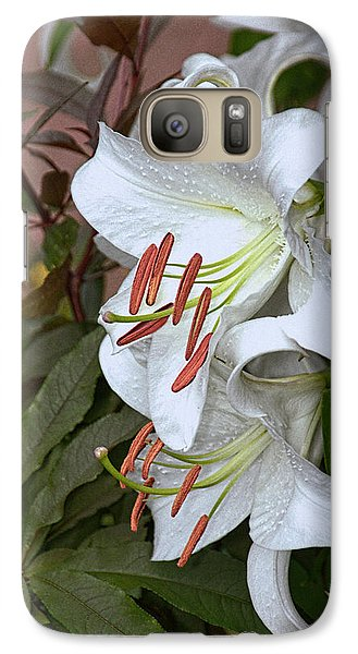 Galaxy Case featuring the photograph White Lily by Dennis Lundell