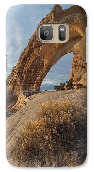 Galaxy Case featuring the photograph White Mesa Arch by Dustin LeFevre