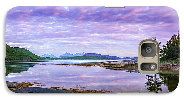 Galaxy Case featuring the photograph White Night In Nordkilpollen Cove by Dmytro Korol