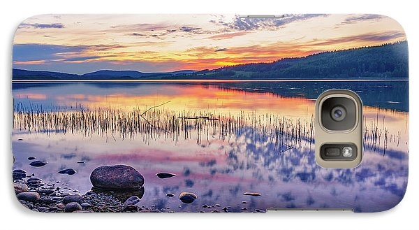 Galaxy Case featuring the photograph White Night Sunset On A Swedish Lake by Dmytro Korol