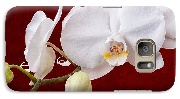 White Orchid Closeup Galaxy Case by Tom Mc Nemar
