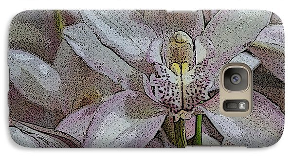 Galaxy Case featuring the photograph White Orchid Flower by Gary Crockett
