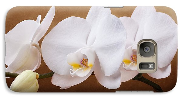 White Orchid Flowers And Bud Galaxy Case by Tom Mc Nemar