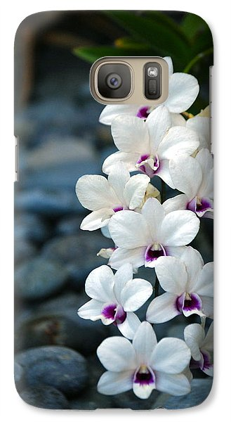 Galaxy Case featuring the photograph White Orchids by Debbie Karnes