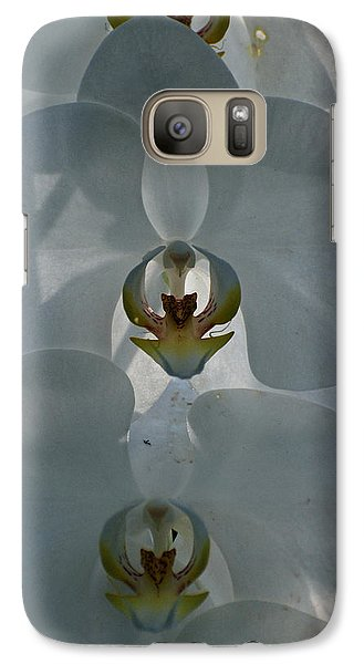 Galaxy Case featuring the photograph White Orchids  by Teresa Blanton