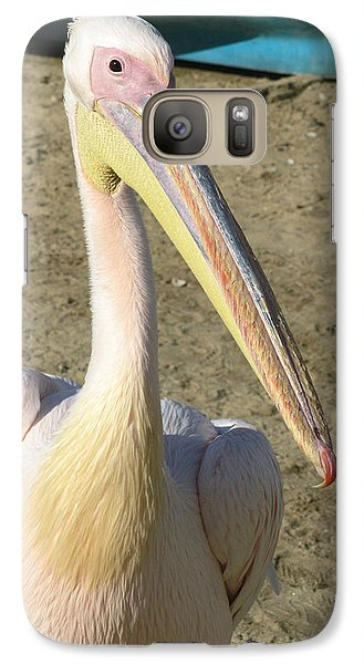Galaxy Case featuring the photograph White Pelican by Sally Weigand