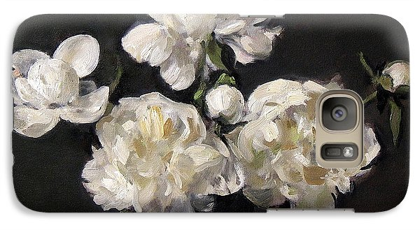 White Peonies Alone Galaxy S7 Case