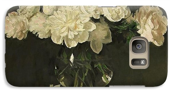 White Peonies In Giant Snifter With Peaches Galaxy S7 Case