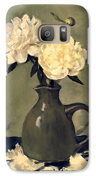 White Peonies In Small Green Pitcher Galaxy S7 Case