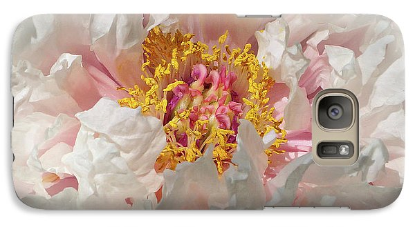 Galaxy Case featuring the photograph White Peony by Sandy Keeton