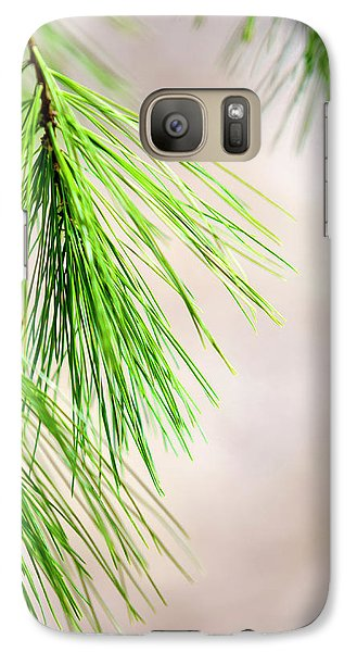 Galaxy S7 Case featuring the photograph White Pine Branch by Christina Rollo