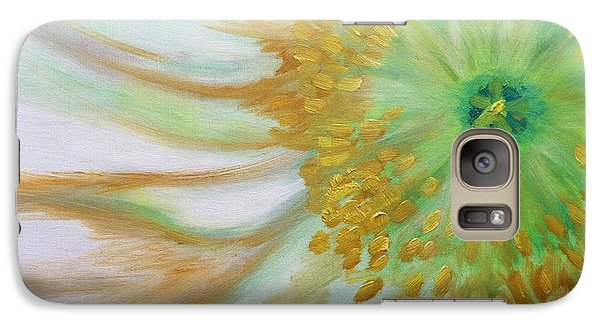 Galaxy Case featuring the painting White Poppy by Sheron Petrie