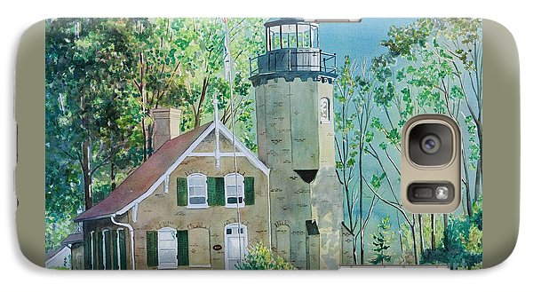 Galaxy Case featuring the painting White River Light by LeAnne Sowa