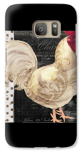 White Rooster Cafe I Galaxy S7 Case by Mindy Sommers
