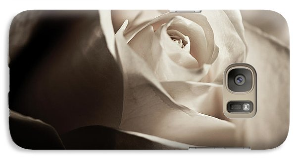 Galaxy Case featuring the photograph White Rose In Sepia 2 by Micah May