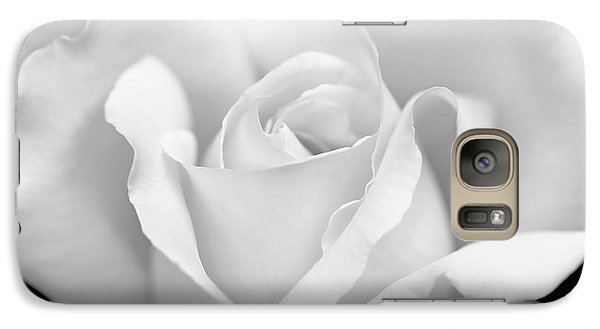Galaxy Case featuring the photograph White Rose Purity by Jennie Marie Schell