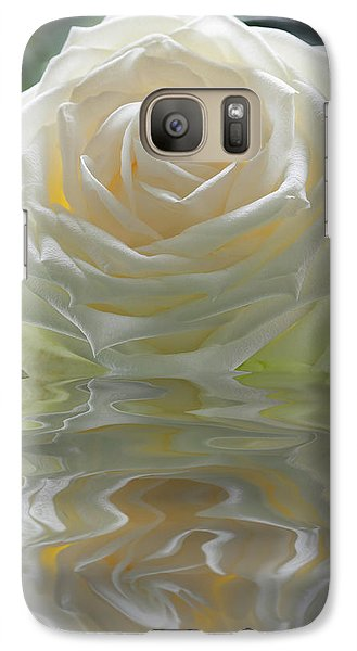 White Rose Reflection Galaxy S7 Case
