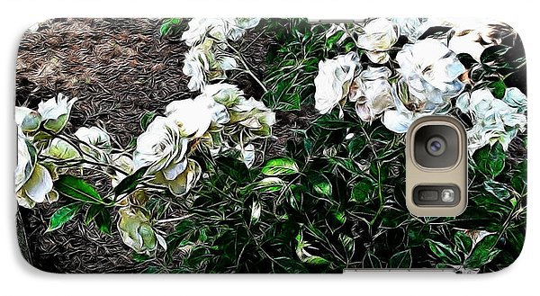Galaxy Case featuring the photograph White Roses by Joan  Minchak