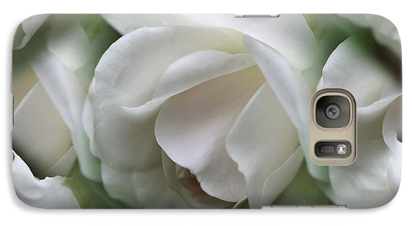 Galaxy Case featuring the photograph White Roses by Smilin Eyes  Treasures