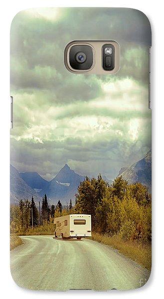 Galaxy Case featuring the photograph White Rv In Montana by Jill Battaglia