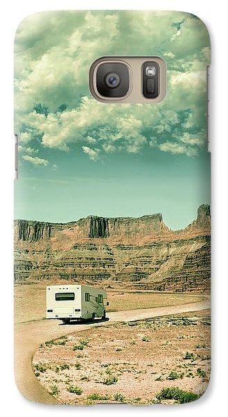 Galaxy Case featuring the photograph White Rv In Utah by Jill Battaglia