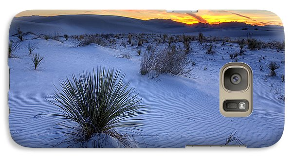 Desert Galaxy S7 Case - White Sands Sunset by Peter Tellone