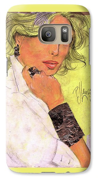 Galaxy Case featuring the painting White Silver by P J Lewis